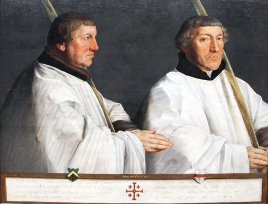 Антонис ван Дасхорст Мор. Портрет двух каноников