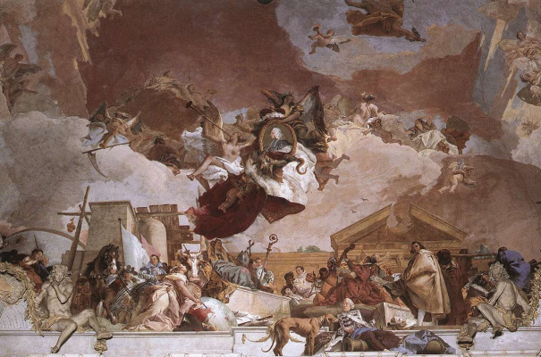Джованни Баттиста Тьеполо. Apollo and the Continents. Fragment