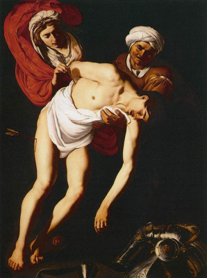 Dirk Van Babouren. Saint Sebastian with Saint Irina and her maid