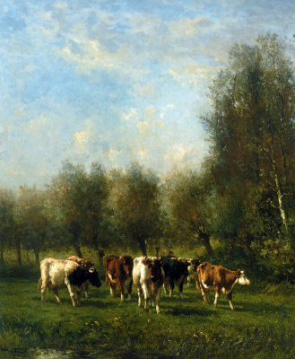 Йоханнес Вролик. Фермер с коровами