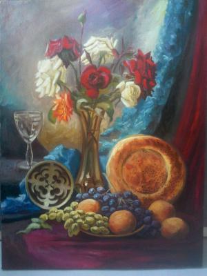 Olga Suncheleeva. Still life with flat cake