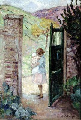 Анри Лебаск. Девушка у ворот