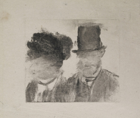 Edgar Degas. Head men and women