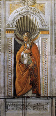 Sandro Botticelli. Bishop Sixtus II
