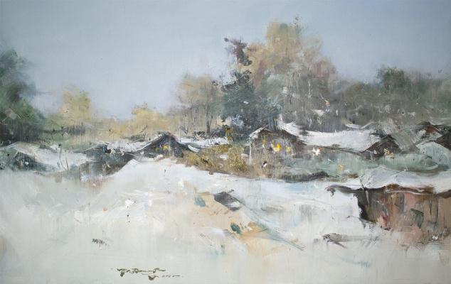 """Ivan Stepanovich Danilov. """"Rural landscape"""""""