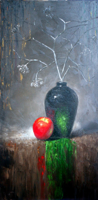 Natalia Bagatskaya. Still life with the Apple