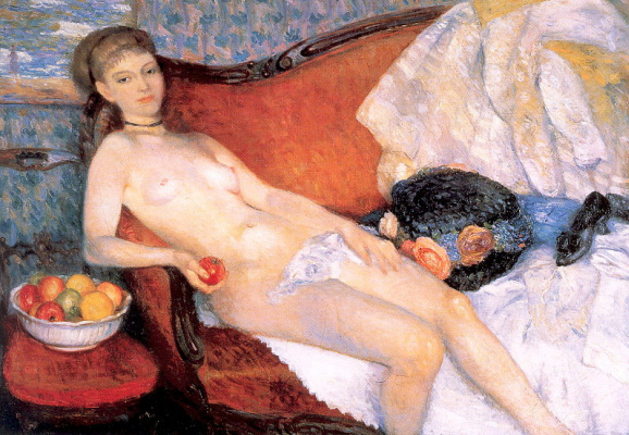 William James Glacens. Nude with Apple