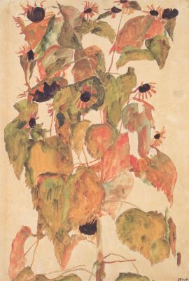 Egon Schiele. Sunflowers
