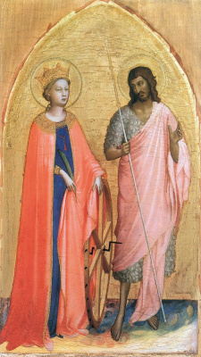 Fra Beato Angelico. Saint Catherine and John the Baptist. Around 1421-1422