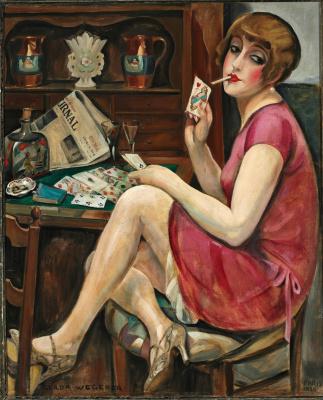 Gerda Wegener. Solitaire