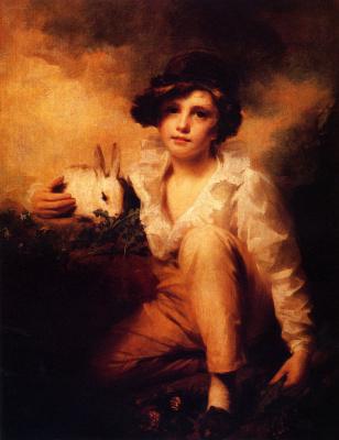Генри Реберн. Мальчик и кролик
