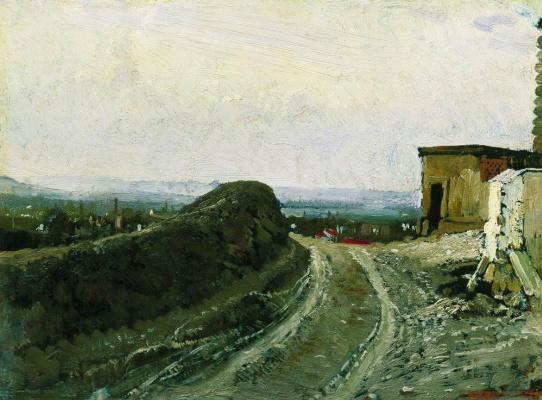 Ilya Efimovich Repin. The road to Montmartre in Paris