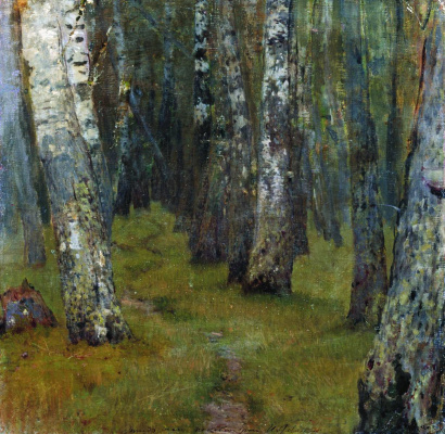 Isaac Levitan. Birch. The edge of the forest