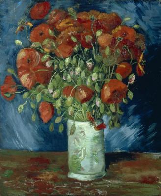 Vincent van Gogh. Vase with red poppies