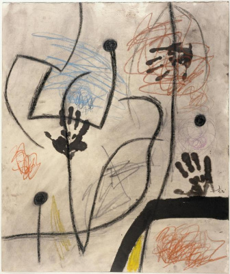 Juan Miro. Hands and birds in space