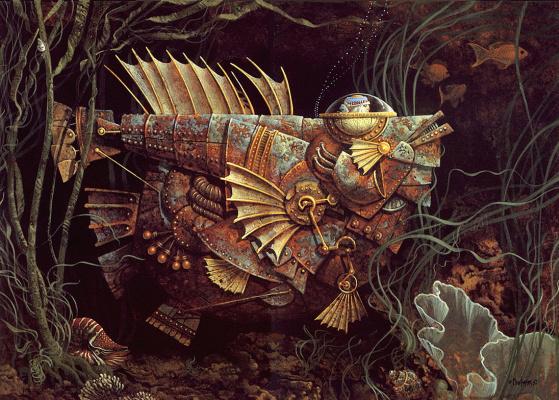 James Christensen. Mechanical fish