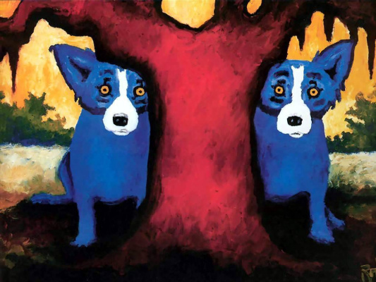 George Rodrigue. Blue собака022