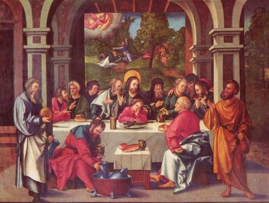 Hans Scheufelain. The last supper