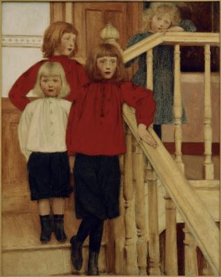 Fernand Knopf. Children Monsieur Niva