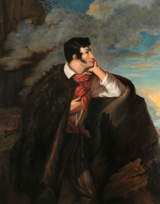 Valentine Mel'chiorovich Vankovich. Portrait of Adam Mickiewicz on the Ayu-Dag rock
