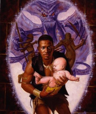 Алан Рабинович. Мужчина с младенцем