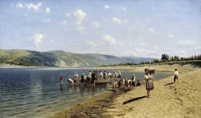 Nikolay Aleksandrovich Sergeev. Tonya on the Dnieper
