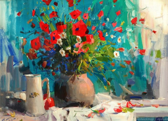 Alexander Vladimirovich Gorbikov. Bouquet Of Poppies