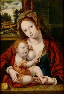 Неизвестный нидерландский мастер. Мадонна с Младенцем.  XVI век