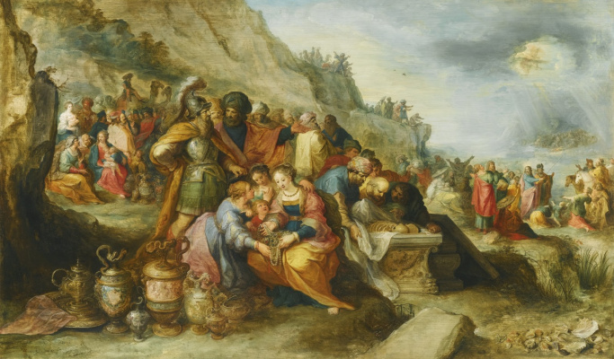 Frans Franken the Younger. Israelites after crossing the Red Sea. 1630