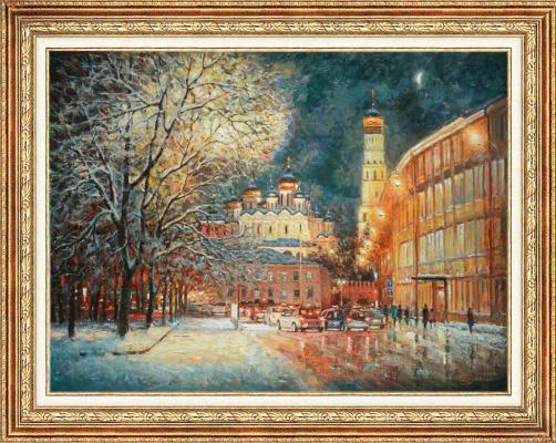 Igor Razzhivin. Outside of winter, in the evening light...