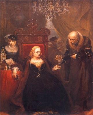 Ян Матейко. Отравление королевы Боны