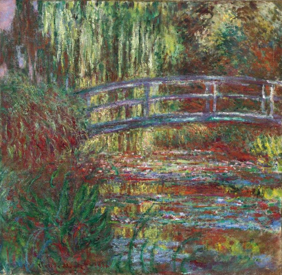 Claude Monet. Pond with water lilies (Japanese bridge)