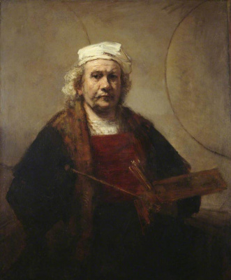 Rembrandt Harmenszoon van Rijn. Self-portrait with two circles