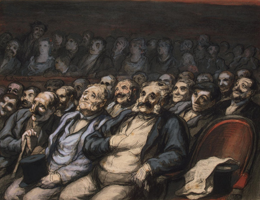 Honore Daumier. Seat in the stalls