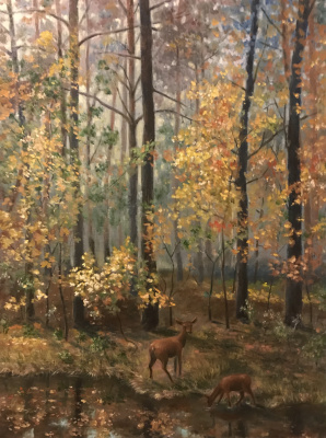 Yuri Gennadievich Piskunov. In the autumn forest