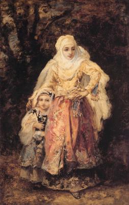 Нарсис Виржилио Диас де ла Пёнья. Восточная женщина и ее дочь