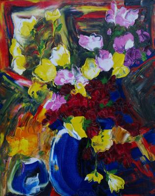 Alexander Ocher Kandinsky-DAE. Rose bouquet