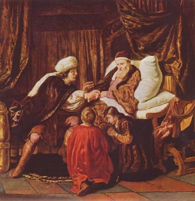 Ян Викторс. Иаков благославляет сыновей Иосифа