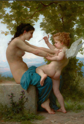 William-Adolphe Bouguereau. Girl and Cupid