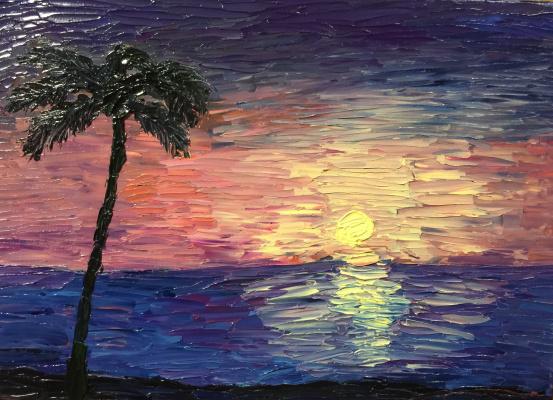 Victoria Valentinovna Zachkova. Tropical sunset