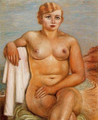 Giorgio de Chirico. Seated nude