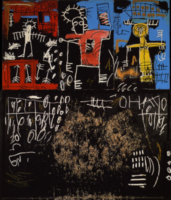 Jean-Michel Basquiat. Black tar and feathers
