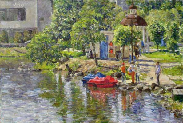 Urii Parchaikin. Pond in summer