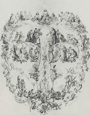 Adolf Friedrich Erdmann von Menzel. The Lord's prayer.