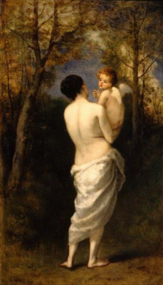 Нарсис Виржилио Диаз де ла Пёнья. Венера с Амуром на руках