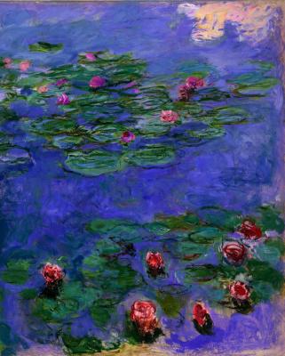 Клод Моне. Красные водяные лилии