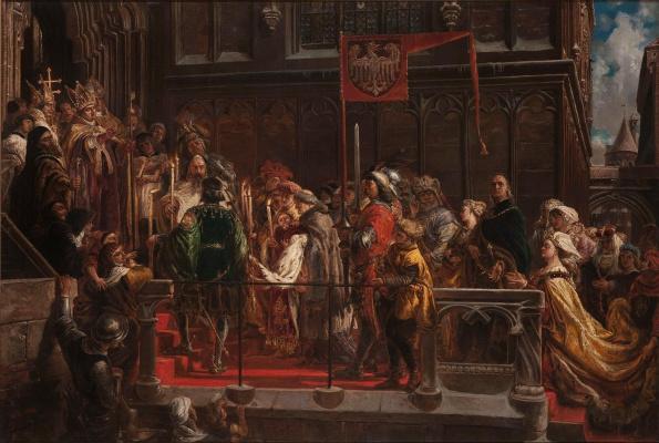 Jan Matejko. The Baptism of Vladislav III of Varna in Poland on February 18, 1425