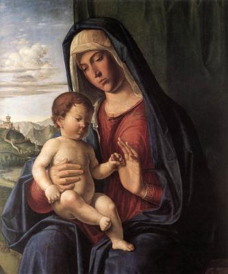 Чима да Конельяно. Мадонна с ребенком