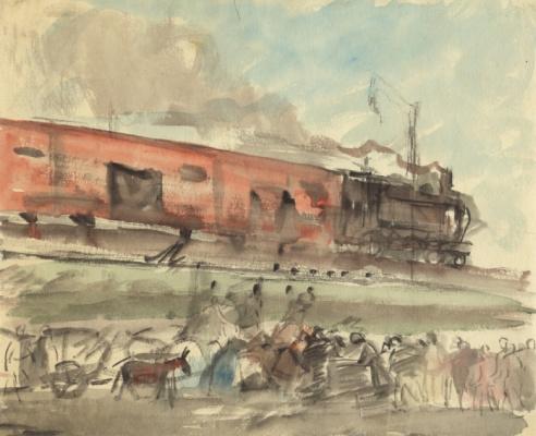 Александр Аркадьевич Лабас. Встречают поезд