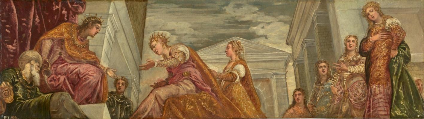Якопо (Робусти) Тинторетто. Соломон и царица Савская